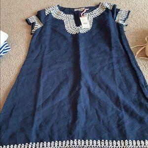Vineyard Vines Dresses - Vineyard vines blue dress with beading